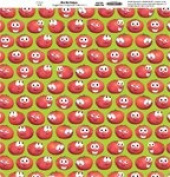 Veggie Tales Bob the Tomato 30cm x 30cm Scrapbook Paper - Set of 2 Sheets