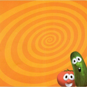Veggie Tales Orange Swirly 30cm x 30cm Scrapbook Paper - Set of 2 Sheets