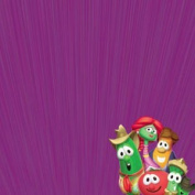 Veggie Tales Show Time 30cm x 30cm Scrapbook Paper - Set of 2 Sheets