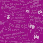 Veggie Tales Veggie Talk Purple 30cm x 30cm Scrapbook Paper - Set of 2 Sheets
