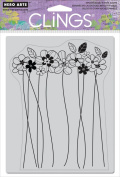 Hero Arts Tall Flowers Cling Stamp
