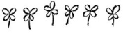 Small Shamrock Border Wood Mounted Rubber Stamp