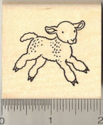 Little Lamb Rubber Stamp, Easter, Spring