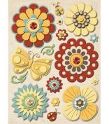 Wild Saffron Felt Stickers-Flowers