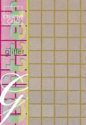 Creative Paper Squares Glitter Cards for Card Making, 215gm, A-4 Size, Gold