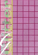 Creative Paper Squares Glitter Cards for Card Making, 215gm, A-4 Size, Purple