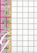 Creative Paper Squares Glitter Cards for Card Making, 215gm, A-4 Size, Silver