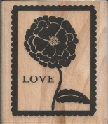 Love Postage Wood Mounted Rubber Stamp