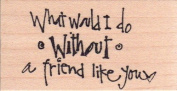 What Would I Do Without a Friend Like You Wood Mounted Rubber Stamp