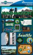Reminisce Jet Setters 2 3-Dimensional Sticker, Washington