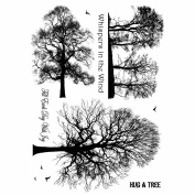 Crafty Individuals Unmounted Rubber Stamp 12cm x 18cm Pkg-Winter Trees