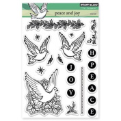 Penny Black Peace and Joy Transparent Stamps