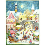 Santa is Coming Town Scene Advent Calendar