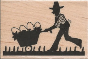 Farmer Wood Mounted Rubber Stamp