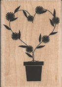 Heart Vine Wood Mounted Rubber Stamp