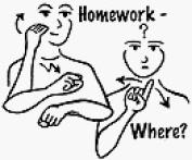 Homework Where. Rubber Stamp