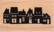 Snow Village Wood Mounted Rubber Stamp