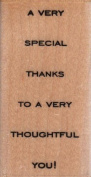 A Very Special Thanks Wood Mounted Rubber Stamp