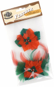 Zucker Feather Products Feather Stickers, Poinsettia, Kelly/Red
