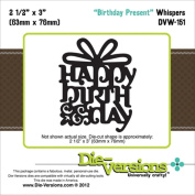 Die-Versions Whispers Birthday Present Scrapbooking Die Cuts