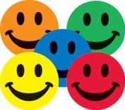Ace Label 16689C Teacher Assorted Smiley Face School Stickers, 2.5cm , Multicolor, 100 Per Roll