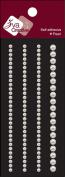 "Self-Adhesive Pearl Embellishments 2.125""X6"" Sheet-Basic Lines 0.3cm & 0.5cm White"