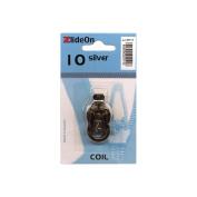 Fix-A-Zipper Size 10 Coil ZlideOn Zipper Pull Replacements, Silver