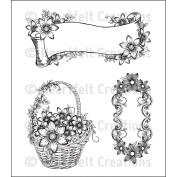 Heartfelt Creations Cling Rubber Stamp Set 13cm x 17cm -Sun Kissed Tags & Basket