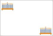 Ace Label 7102AL Menorah Adhesive Name Badge, Multicolor, 20 Sheets Per Pack