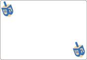 Ace Label 7105AL Dreidel Adhesive Name Badge, Multicolor, 20 Sheets Per Pack