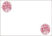 Ace Label 7117AL Season's Greetings Adhesive Name Badge, Red/White, 20 Sheets Per Pack