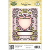 JustRite Stampers Cling Stamps - Cupid Background