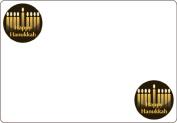 Ace Label 7116AL Happy Hanukkah Adhesive Name Badge, Multicolor, 20 Sheets Per Pack