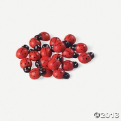 50 Adorable Wooden LADYBUGS/Self Adhesive/CRAFT/Decorations/1.3cm Home Decor/PLANTS