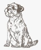 Dog Rubber Stamp - Border Terrier-1E (Size