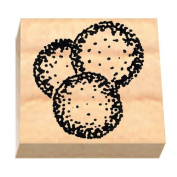 Ruth's Jewish Stamps Wood Mounted Rubber Stamp - Latkes