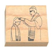 Ruth's Jewish Stamps Wood Mounted Rubber Stamp - Rabbi Bar Mitzvah
