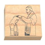 Ruth's Jewish Stamps Wood Mounted Rubber Stamp - Rabbi Bas Mitzvah