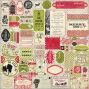Authentique Stickers Festive 30cm x 30cm Details