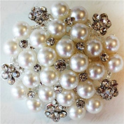 Melissa Frances Broach Embellishment, Perfectly Pearl Cluster