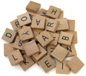 80 Pc Wooden Alphabet Tile Set Common Alphabet Crafts Scrapbooking Tiles 1.9cm