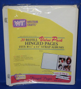 WESTRIM CRAFTS 20 REFILL VALUE PACK HINGED PAGES, FITS 22cm X 28cm STRAP ALBUMS