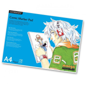 LETRASET Comic Marker Pad with 50 A4 Sheets, 30cm by 21cm