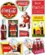 Coca-Cola Scrapbooking Stickers - Sprite Santa Signs