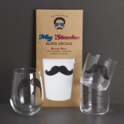 My Stache Bling Decals - 12 Stache Designs