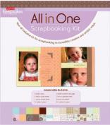 Creating Keepsakes 20cm x 8 Inch All In One Scrapbooking Kit- Batik
