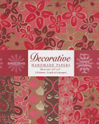 Decorative Paper Pack from India- Dark Red Brown & Gold