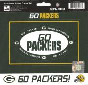 NFL Green Bay Packers Scrapbook Sticker Frame Set