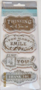 TPC Studio Rubber Cling Stamps - Vintage Greetings