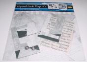 Black Layered Look 30cm x 30cm Scrapbook Kit